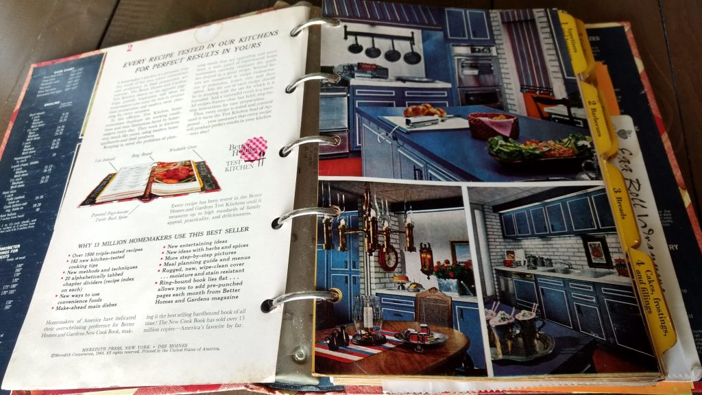 My Old Better Homes Cookbook with old fashion kitchen