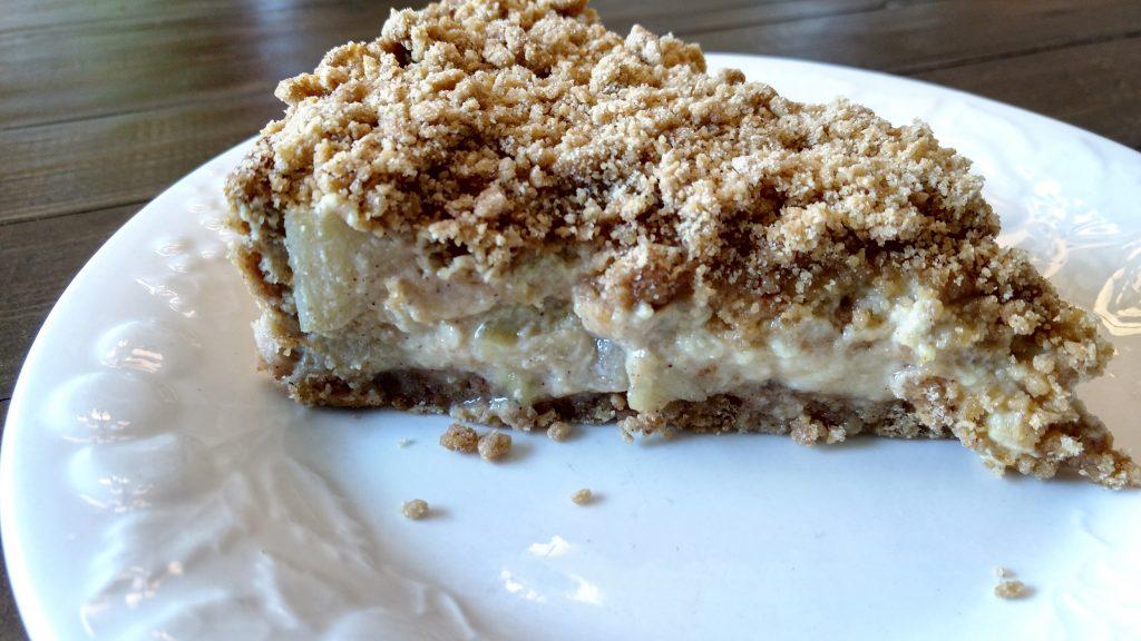 Dairy Free Apple Custard Crumb Pie (Sugar Free)