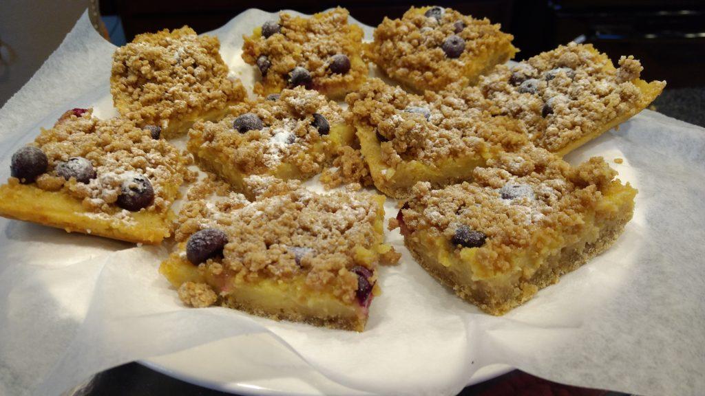 Dutch Crumble Lemon & Blueberry Bars